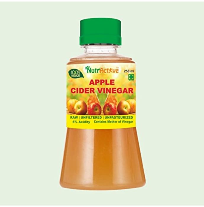 NutrActive Raw, Unfiltered, Unpasteurized Apple Cider Vinegar with Mother of Vinegar