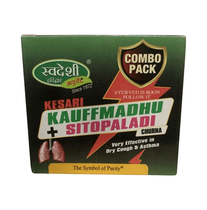 Swadeshi Combo Pack of Kesari Kauffmadhu (100gm) & Sitopaladi Churna (30gm) Pack of 2