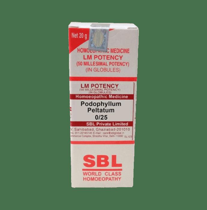 SBL Podophyllum Peltatum 0/25 LM