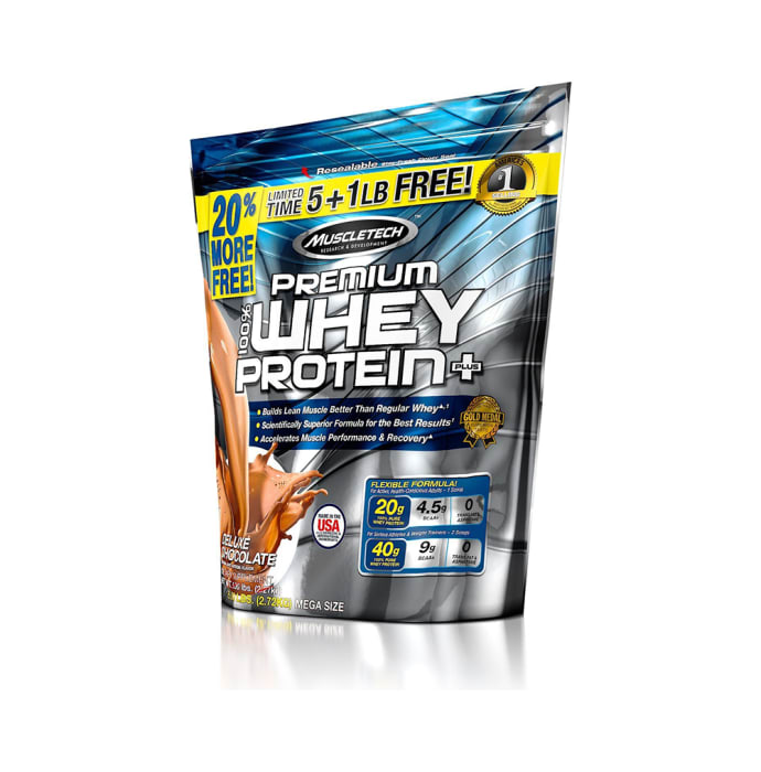 Muscletech Premium 100% Whey Protein Powder Deluxe Chocolate