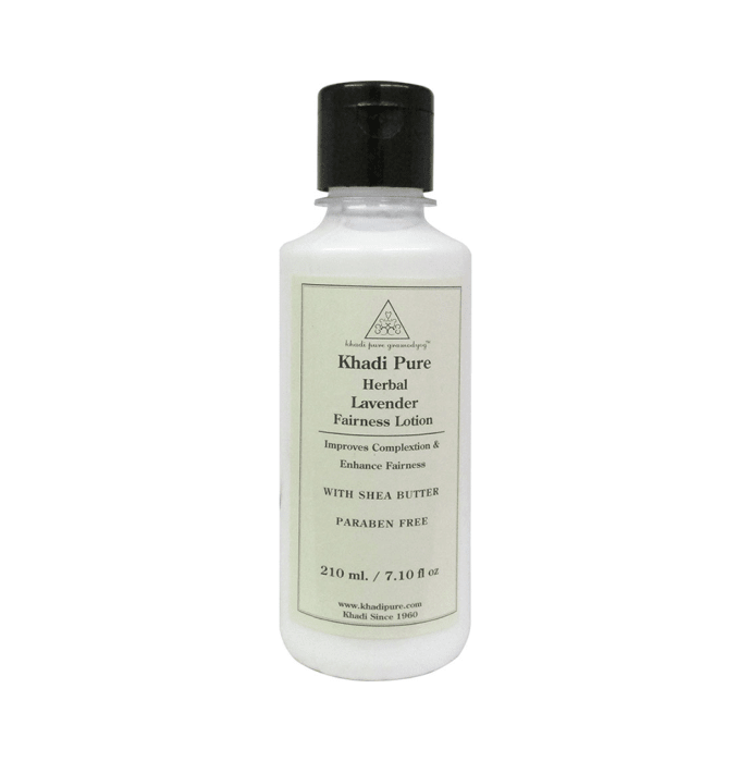 Khadi Pure Herbal Lavender Fairness Lotion with Sheabutter Paraben Free