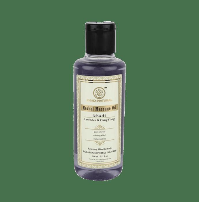 Khadi Naturals Ayurvedic Lavender & Ylang Ylang Massage Oil Paraben Mineral Oil Free