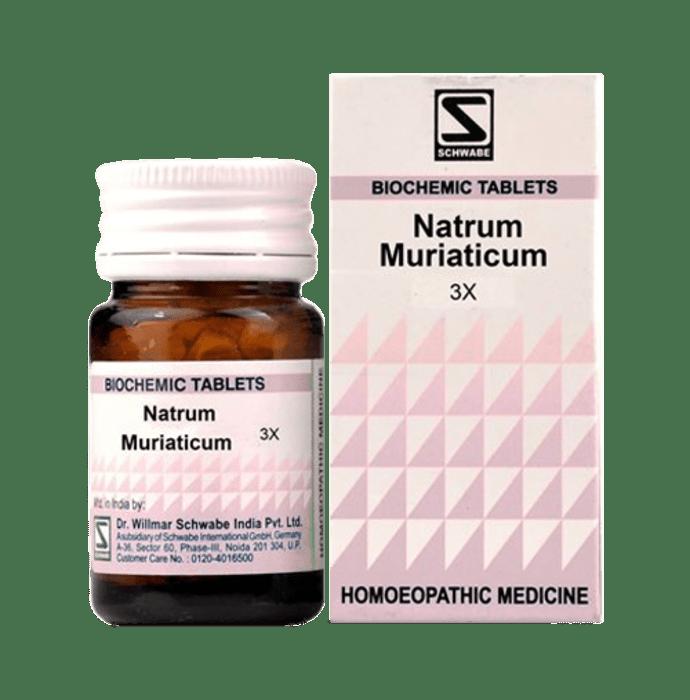 Dr Willmar Schwabe India Natrum Muriaticum Biochemic Tablet 3X