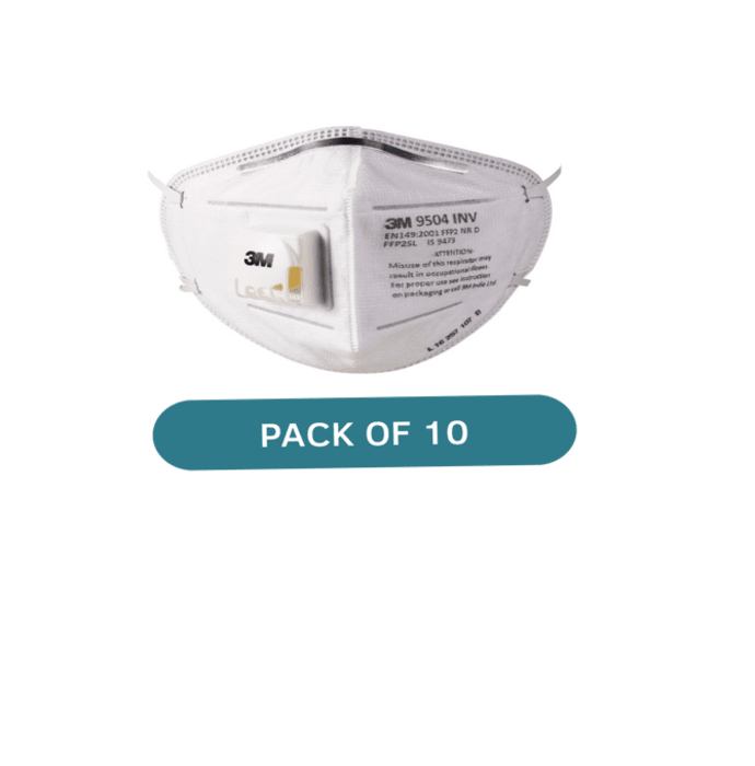 3M 9504-INV-P P2 Respirator Mask White Pack of 10
