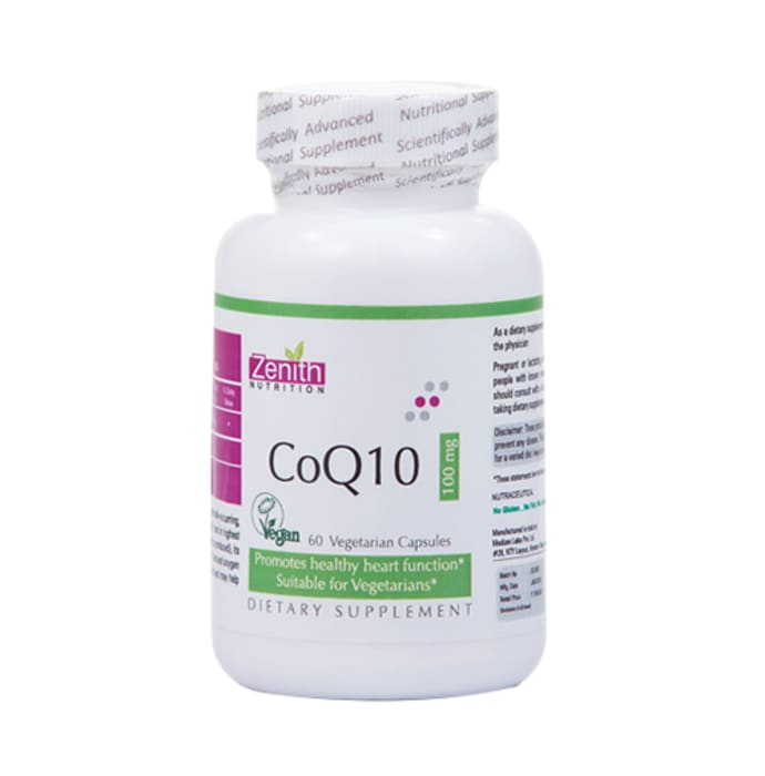 Zenith Nutrition Coq10 100mg Capsule