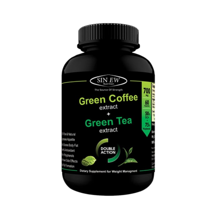 Sinew Nutrition Green Tea with Green Coffee Extract Capsule