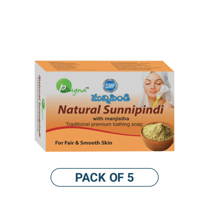 Pragna Natural Sunnipindi Soap Pack of 5