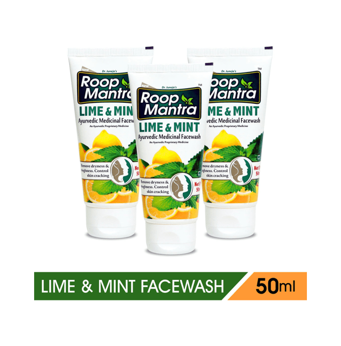 Roop Mantra  Lime & Mint Face Wash Pack of 3