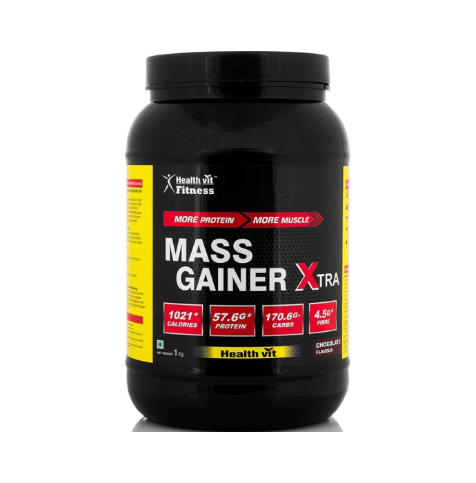 HealthVit Mass Gainer Xtra with Vitamins & Minerals Powder Chocolate