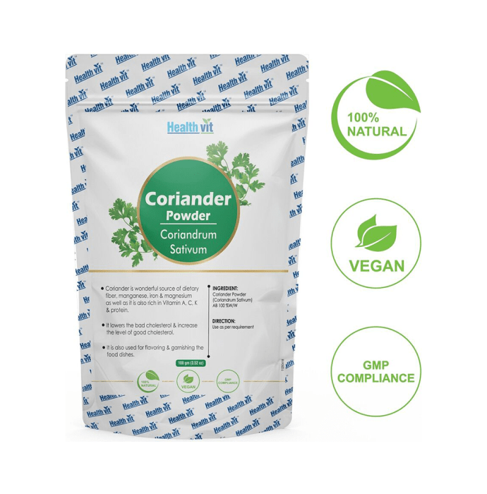 HealthVit Natural Coriander (Coriandrum Sativum) Powder
