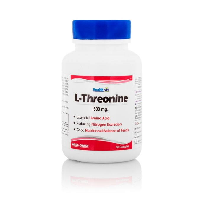 HealthVit L-Threonine 500mg Essential Amino Acid Capsule