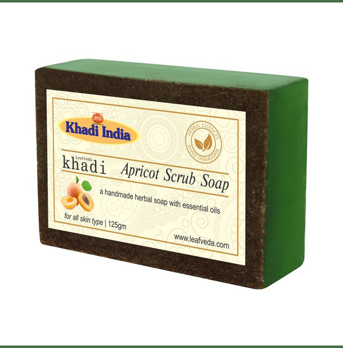 Khadi Leafveda Apricot Scrub Soap Pack of 2
