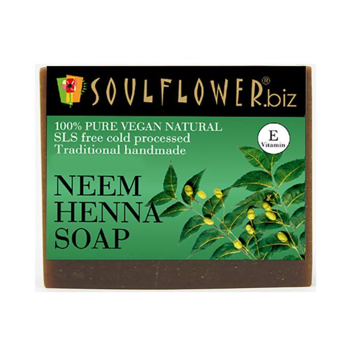 Soulflower Neem Henna Shampoo Bar Soap