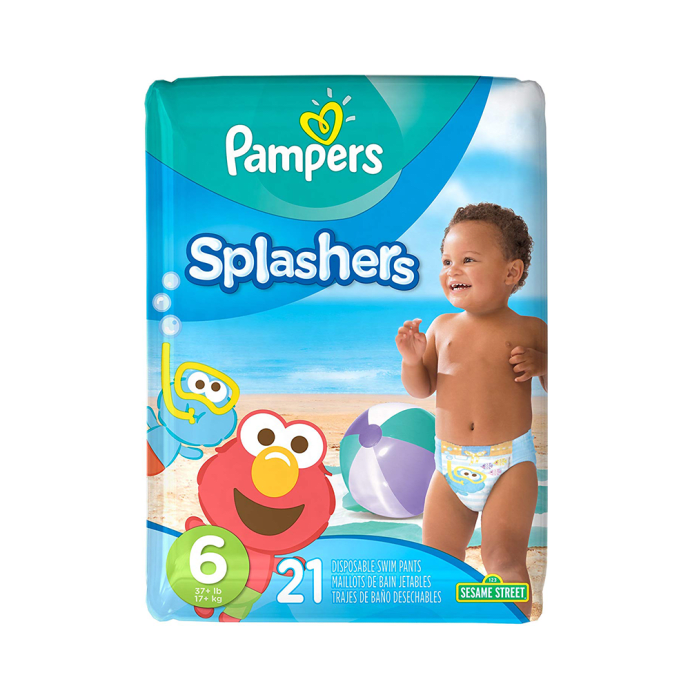 Pampers Splashers Disposable Swim Pants Diaper Size 6