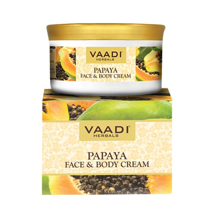 Vaadi Herbals Value Pack of Papaya Face & Body Cream Pack of 3