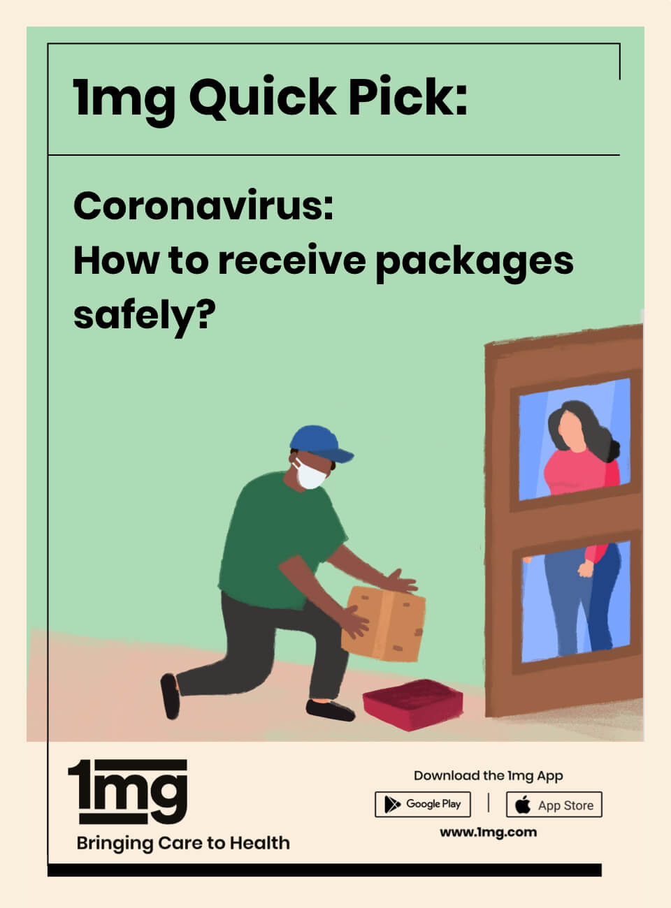 Receiving Home Delivery Packages amid COVID-19 By 1mg