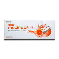 Mucinac 600mg Effervescent Tablet Orange
