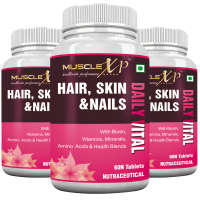 MuscleXP Hair, Skin & Nails Advanced Multivitamin Tablet (Pack OF 3)