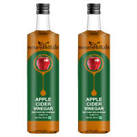 NourishVitals Apple Cider Vinegar with Mother Vinegar Pack of 2