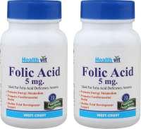 HealthVit Folic Acid 5mg Tablet (Pack OF 2)