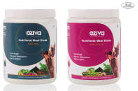 Oziva Nutritional Meal Shake (Meal Replacement)  'his & Her' (Pack OF 2) 500Gm,  Chocolate