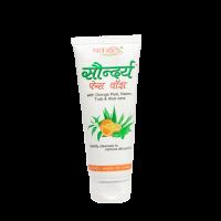Patanjali Saundraya Orange Peel, Neem, Tulsi & Aloe Vera  Face Wash