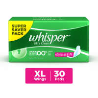 Whisper Ultra Clean Wings Sanitary Pads XL