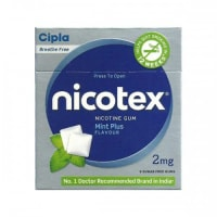 Nicotex Plus 2mg Chewing Gums Mint Plus