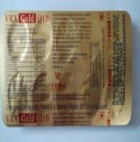 Vrx Gold Q10 Soft Gelatin Capsule