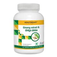 HealthKart Ginseng Extract & Ginkgo Biloba Tablet