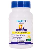 HealthVit Vitamin D3 10000 IU Tablet