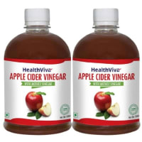 HealthViva Apple Cider Vinegar with Mother Vinegar Pack of 2