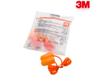 3M 1110 Corded Foam Earplugs (Pack OF 5)