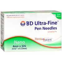 BD Ultra-Fine Pen Needles 4MM 32G Pack of 2