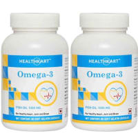 HealthKart Omega-3 Fish Oil 1000mg Capsule Pack of 2