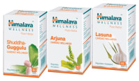 Himalaya Cardiac Care Combo Pack (Arjuna 60 Tablets, Lasuna 60 Tablets, Shuddha Guggulu 60 Tablets)