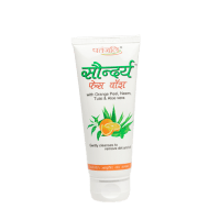 Patanjali Saundraya Orange Peel, Neem, Tulsi & Aloe Vera  Face Wash