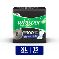 Whisper Ultra Nights Wings Sanitary Pads XL