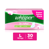 Whisper Ultra Soft Sanitary Pads L
