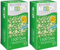 MOODS Silver 1500 Dots Condom Pack of 2