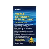 GNC Triple Strength Fish Oil 1500 Soft Gelatin Capsule