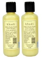 Khadi Naturals Saffron Reetha Protein Herbal Shampoo Pack of 2