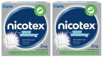 Nicotex Teeth Whitening 2mg Chewing Gums Mint Plus Pack of 2