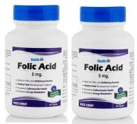 HealthVit Folic Acid 5mg  Tablet Pack of 2