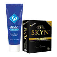 Thats Personal Combo Pack of ID Jelly Extra Thick Water Based Lubricant 12 ml & KamaSutra Skyn Condom