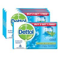 Dettol Cool Soap 125gm (Pack of 3) with Free Dettol Cool 125gm Soap