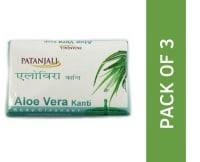 Patanjali Ayurveda Aloe Vera Kanti  Body Cleanser Soap Pack of 3