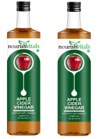 NourishVitals Apple Cider Vinegar with Mother Vinegar Acidity 5% Pack of 2
