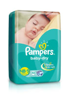 Pampers Baby Dry New Born to Small Diaper NB-S
