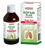 BAKSON'S Kof Aid Plus Sugar Free Cough Syrup